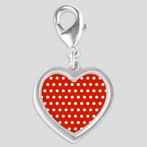 Red and White Polka Dots Charms