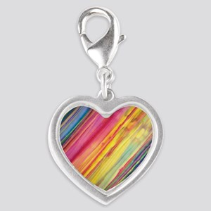 Colors Silver Heart Charm