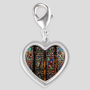 6186fa86d Frank Memorial Window Charm Bracelet, One Charm. $36.99. christ church  cathedral window Silver Heart Charm
