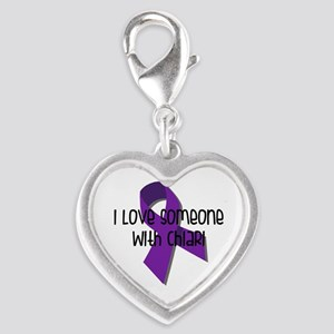 I Love Someone With Chiari Silver Heart Charm