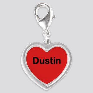 Dustin Red Silver Heart Charm