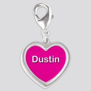 Dustin Pink Silver Heart Charm