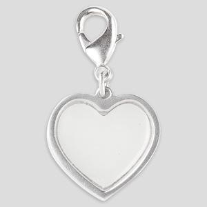 lion  Silver Heart Charm