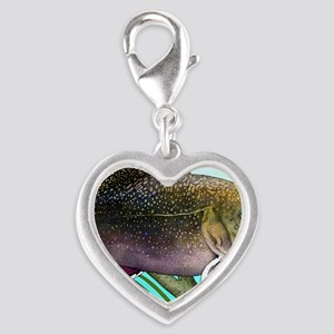 Brook Trout Silver Heart Charm