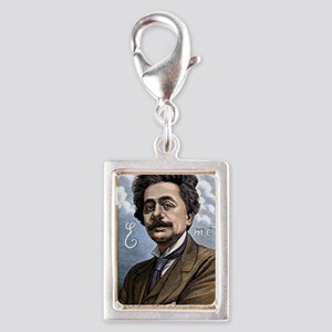 Albert Einstein, physicist Silver Portrait Charm