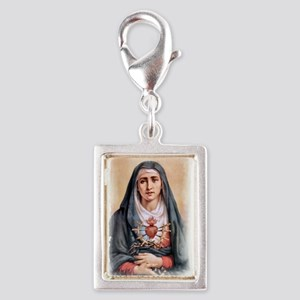 Sorrowful Mother Silver Portrait Charm