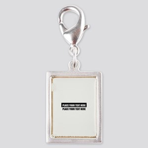 Add text message Silver Portrait Charm