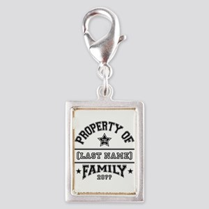 Family Property Silver Portrait Charm