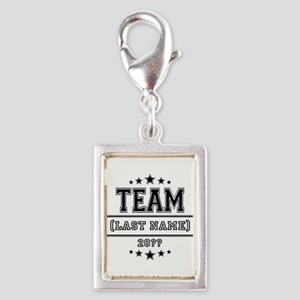 Team Family Silver Portrait Charm