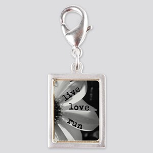 Live Love Run by Vetro Jewel Silver Portrait Charm