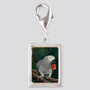 Greys in the Wild Silver Portrait Charm