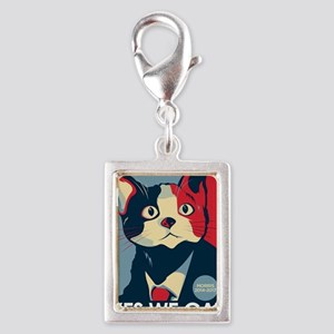 Candigato - Yes We Cat Silver Portrait Charm