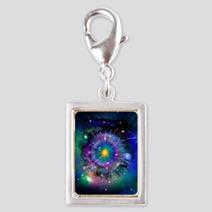 Space-time gateway Silver Portrait Charm