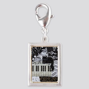 keyboard-sitting-cat-ornamen Silver Portrait Charm