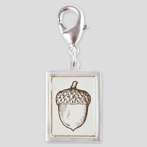 Acorn Silver Portrait Charm