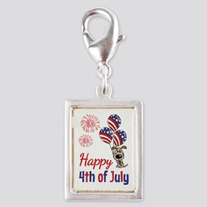 Happy 4th Doggy with Balloons Charms