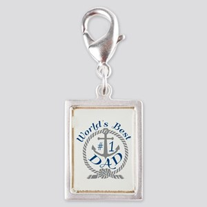 Worlds Best number 1 Dad in Anchor and Rope Charms