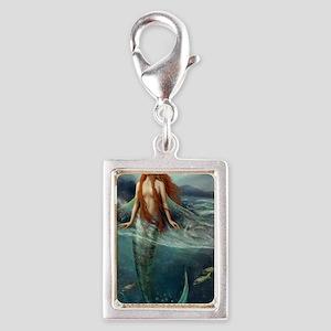 Mermaid of Coral Sea Silver Portrait Charm