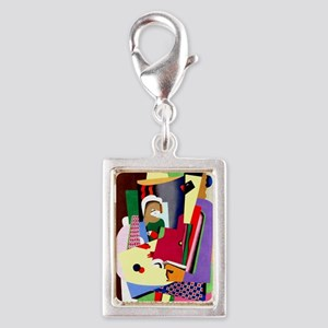 Georges Valmier - The Piano  Silver Portrait Charm
