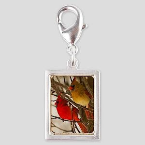 cardinals2poster Silver Portrait Charm