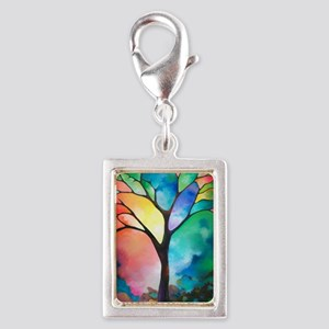 Tree of Light by Sally Trace Silver Portrait Charm