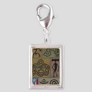 Taino Petroglyphs Silver Portrait Charm