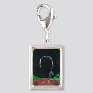 Girl with the Big Afro Silver Portrait Charm