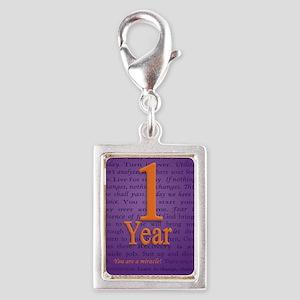 1 Year Recovery Birthday - Y Silver Portrait Charm