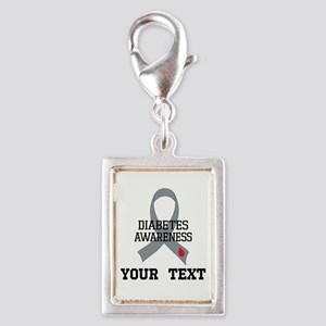 Diabetes Awareness Personalized Charms