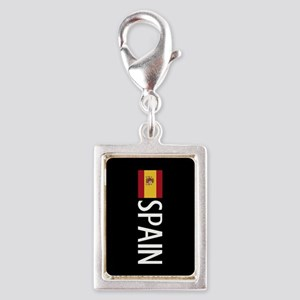 Spain: Spanish Flag & Spain Silver Portrait Charm