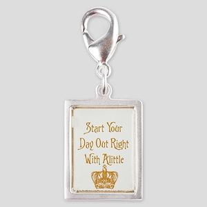 Alittle Crown Silver Portrait Charm