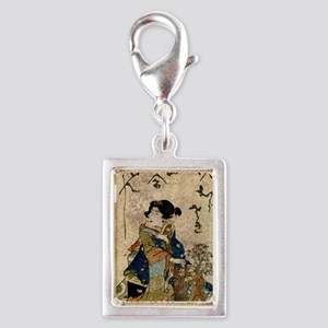 Vintage Japanese Art Woman Charms