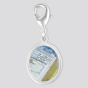 Nutritional information Silver Oval Charm