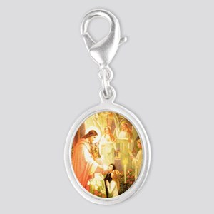 Angelic Choirs Silver Oval Charm