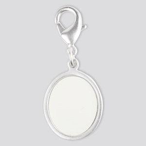Friends Baby Pigs Silver Oval Charm