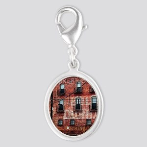 Coca-Cola Ghost Sign Silver Oval Charm