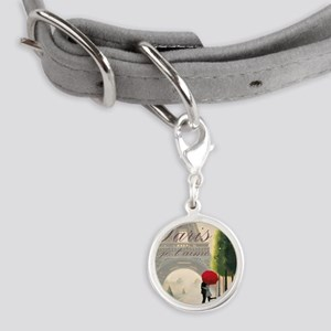 Je T'aime Paris Small Round Pet Tag