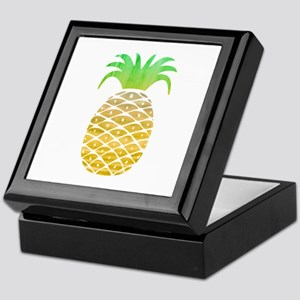 Colorful Pineapple Keepsake Box