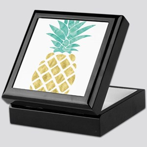 Golden Pineapple Keepsake Box