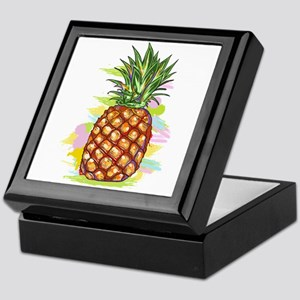 Cute PineApple Illustration Keepsake Box