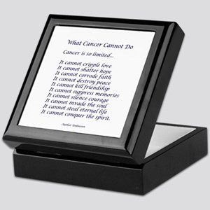 What Cancer Cannot Do Poem Keepsake Box
