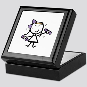 Girl & Exercise Keepsake Box