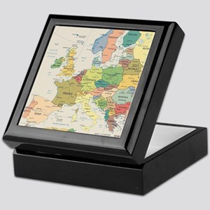 Europe Map Keepsake Box