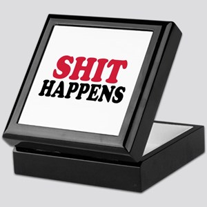 Shit happens Keepsake Box
