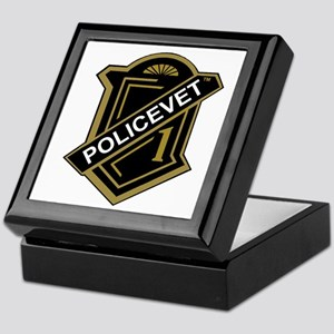 Policevets Shield Keepsake Box