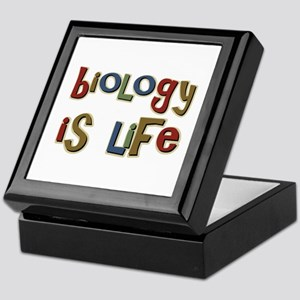 Biology is Life Pun Science Major Keepsake Box