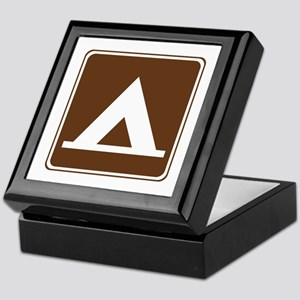 Camping Tent Sign Keepsake Box
