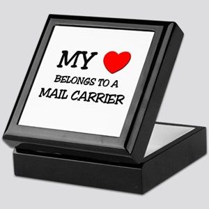 My Heart Belongs To A MAIL CARRIER Keepsake Box