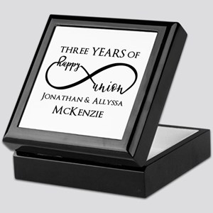 Custom Anniversary Years and Names In Keepsake Box