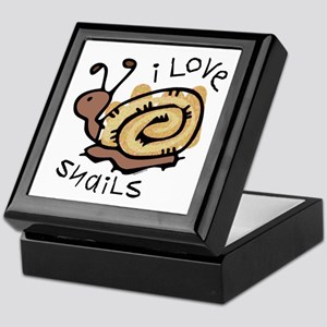 I Love Snails Keepsake Box